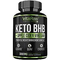 Keto Pills with Green Tea + Organic Apple Cider Vinegar Capsules [ Powerful 3000MG...
