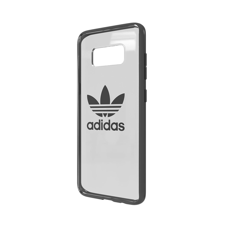 adidas Originals Clear Case Handyhülle für Samsung Galaxy S8 Gunmetal Logo