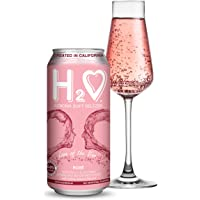 H2O Soft Seltzer California Wine-Infused Refreshment, 0.0% Non-Alcoholic, 16 Fl oz Can (Pack of 4) (Rosé)