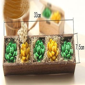 QCBC Aceite Esencial de jabón Caja de Regalo Planta de la Planta de Flores Pot Modeling