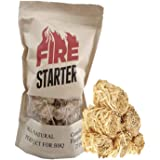 GTS Fire Starter for Charcoal and Firewood, Super Fast Lighting, Perfect for BBQ, Campfire and Fireplace, All Natural…