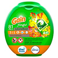Deals on 81Ct Gain flings Laundry Detergent Pacs plus Aroma Island Fresh