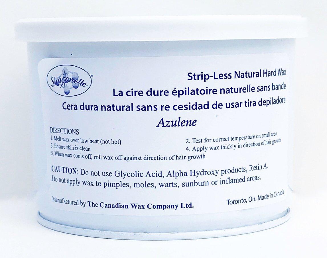 Sharonelle Natural Hard Azulene Wax in 14 oz. - 1 can Canadian Wax Company