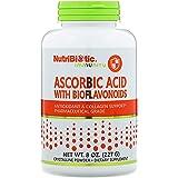 Nutribiotic Ascorbic Acid Powder with Bioflavonoids, 8 Ounce