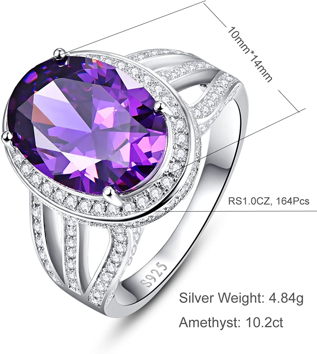 2018 Ultra Luxury High Fashion Lovely Purple and White AAA Lab Diamond Ring