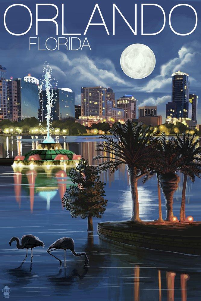 オーランド、フロリダ州 – 夜のスカイライン 9 x 12 Art Print LANT-36394-9x12 B00N5CGIE2 9 x 12 Art Print9 x 12 Art Print