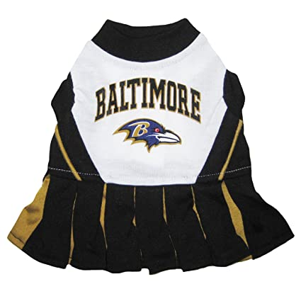 c45412f70 Amazon.com   Baltimore Ravens NFL Cheerleader Dress For Dogs - Size ...