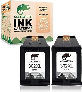 COLORETTO - Cartucho de Tinta Compatible con HP 302XL para HP Deskjet 1110 1111 1112 1113, Officejet 3830 3831 3832 (1 Negro, 1 Color): Amazon.es: Electrónica