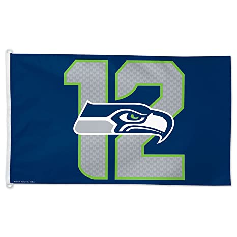 6d9a3e08c Image Unavailable. Image not available for. Color: NFL Seattle Seahawks  12th Man Flag ...