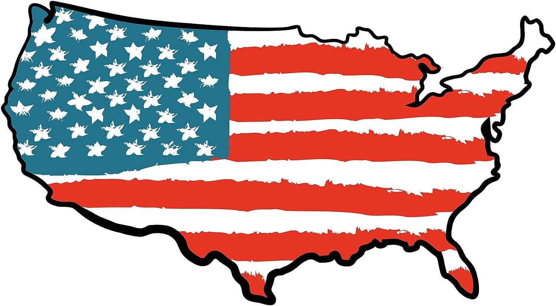Pegatina de pared Dormitorio de adolescentes USA Mapa de América con esquemas para pegar bordadoras joven Unidos países es adolescencia Bandera XXL: Amazon.es: Bebé