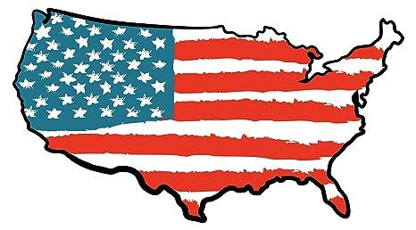Pegatina de pared Dormitorio de adolescentes USA Mapa de ...