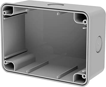 4box 4B.WB.Ral Caja de Pared IP67 para Funda Wide, Gris: Amazon.es: Bricolaje y herramientas