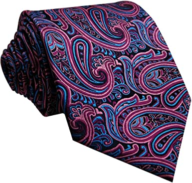 Shlax y ala de hombre corbata de cachemira azul rosa boda seda ...