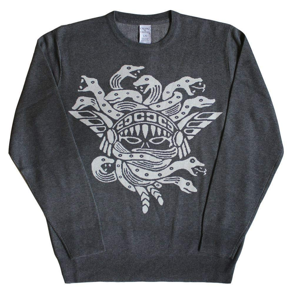 Crooks & Castles Olmec Medusa Sweatshirt Heather Charcoal[XXXL]