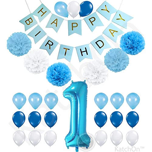 1st Birthday Boy Decorations Kit