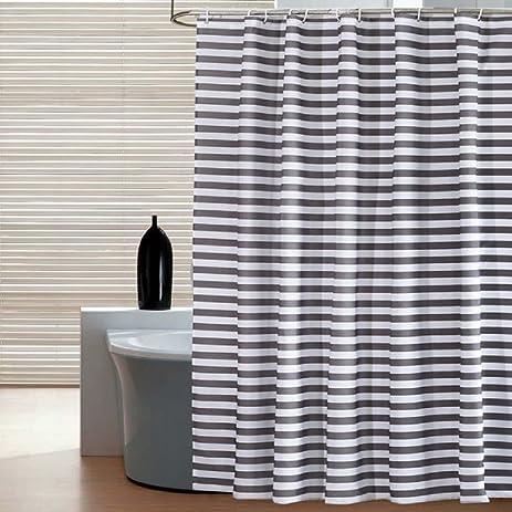 Ufaitheart Waterproof Fabric Shower Curtain 54 X 72 Inches Stall Shower  Curtain Striped Bathroom Curtain Home