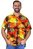 V.H.O. Funky Hawaiihemd | Herren | Kurzarm | Front-Tasche | Hawaii-Print | Surf Palmen Meer