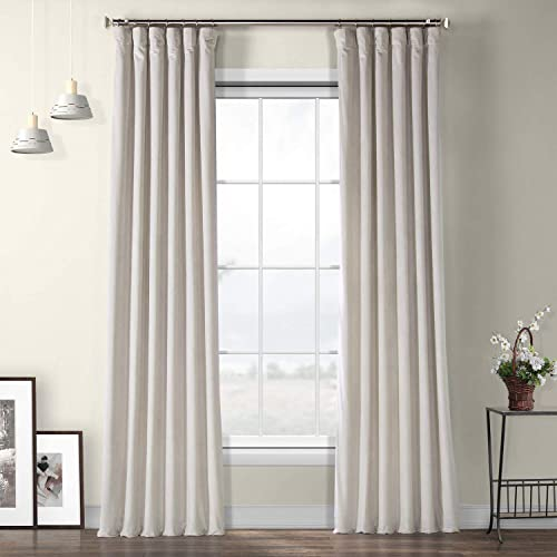 USE 2 Home  Window Curtains  Set of 2 Interlined City Grey Velvet Panels  85 Light Blocking  Premium Heavy Soft Quality  Message/Call