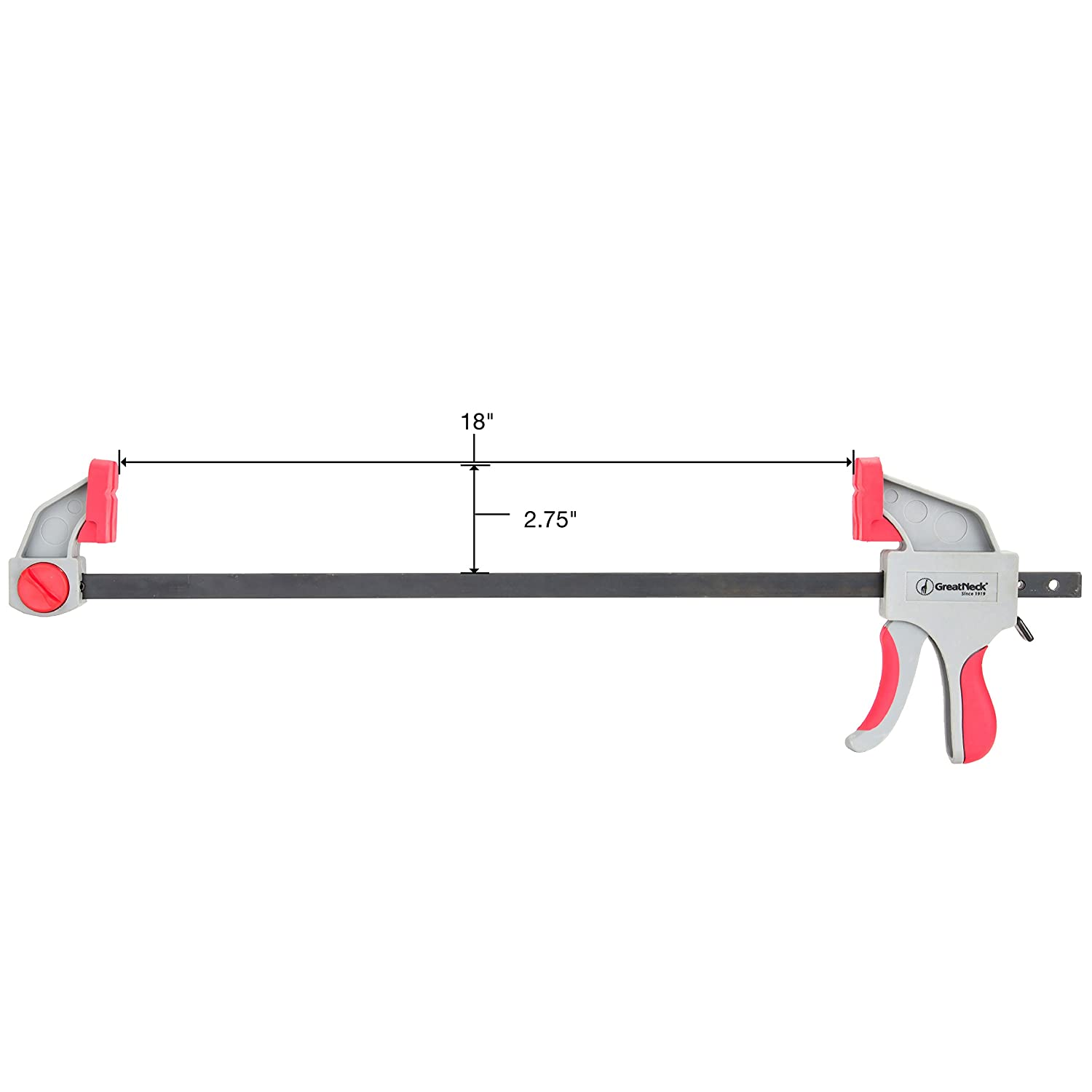 GreatNeck 59002 18 Inch Ratcheting Bar Clamp and Spreader