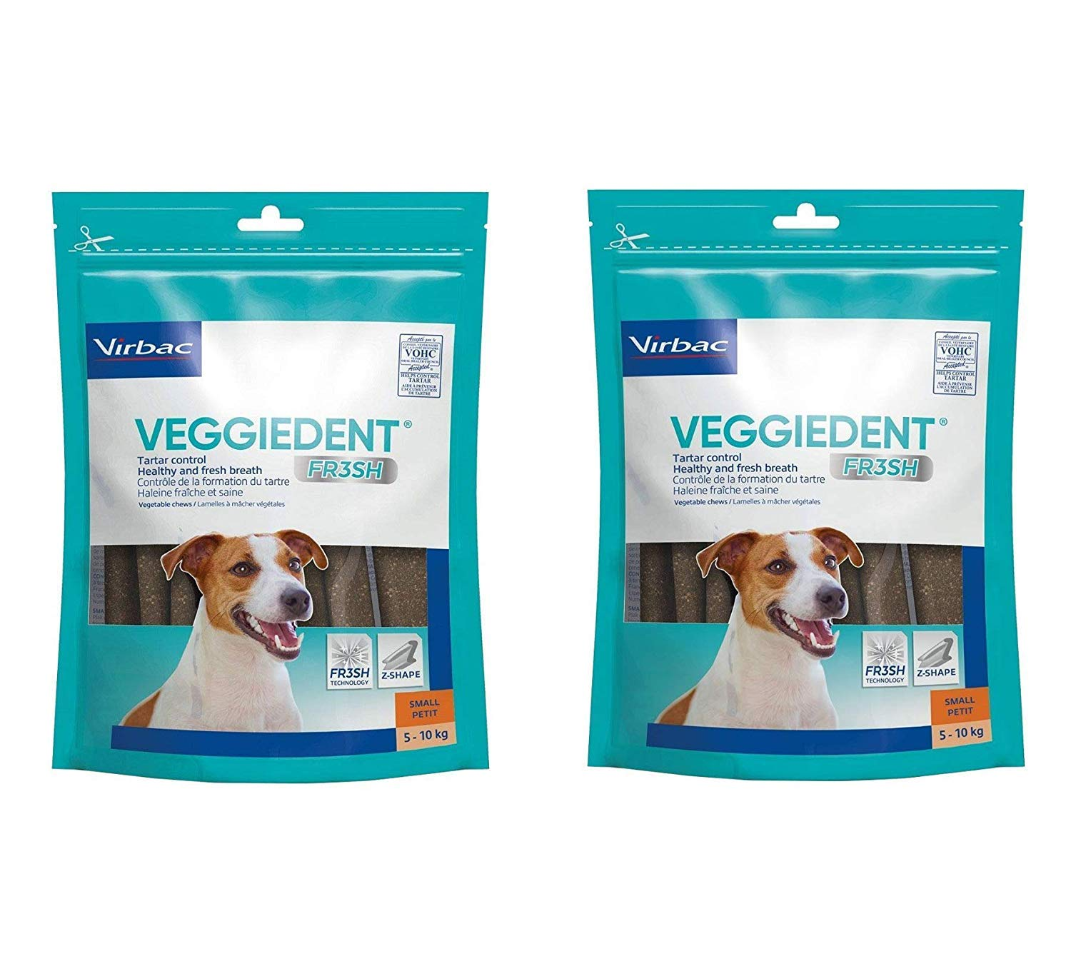 CET VeggieDent Chews for Small Dogs 30 chews Pack of 2