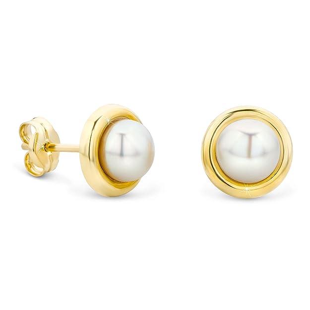 Perlen ohrringe gold 585