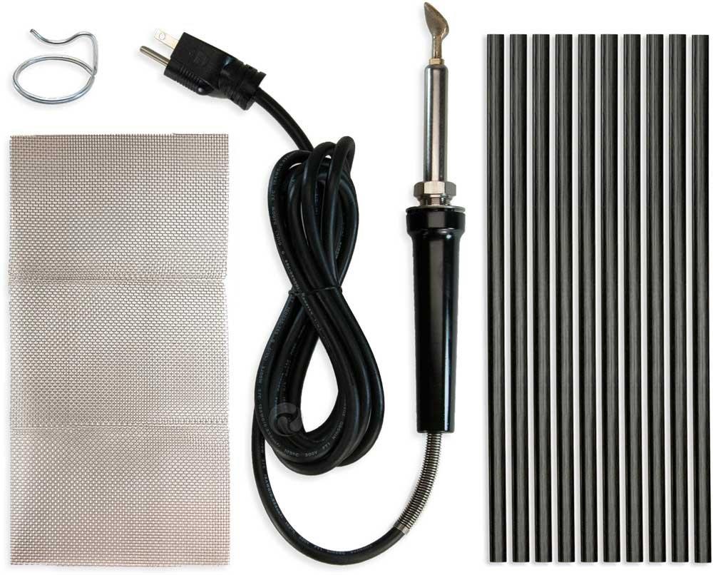 Poly Welder Pro 200 Watt Plastic Repair Kit (Black)