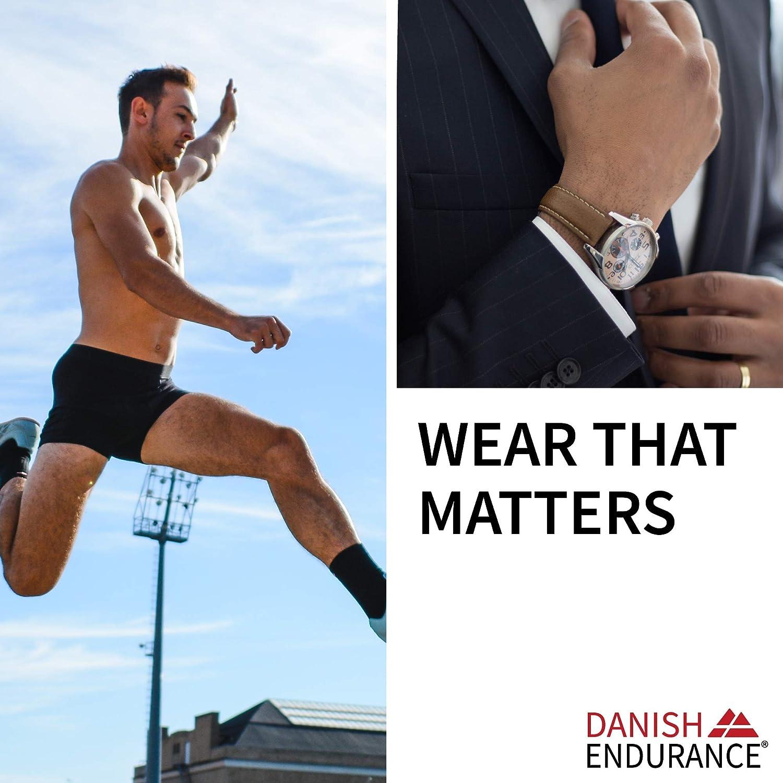 Boxer Shorts Classic Fit Underwear DANISH ENDURANCE Mens Cotton Trunks 1 Pack Stretchy Soft