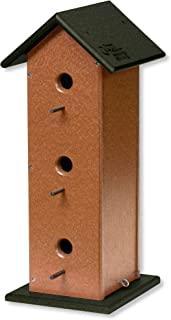 product image for DutchCrafters Trio Post Mount Poly Bird House (Turf Green & Cedar)