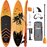 """Cooyes Inflatable Stand Up Paddle Board 10'6"""" with Free Premium SUP Accessories & Backpack, Non-Slip Deck. Bonus Waterproof B"""
