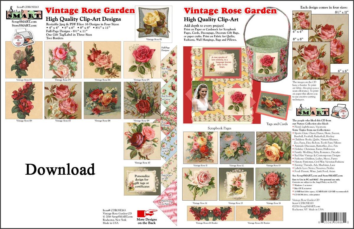 ScrapSMART - Vintage Rose Garden Software Collection [Download] by ScrapSMART