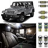 AUTOGINE 6 Piece CANBUS LED Interior Light Kit for Jeep Wrangler JK 4-Door 2007 2008 2009 2010 2011 2012 2013 2014 2015 2016