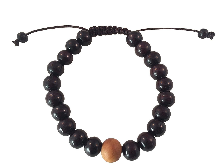 Tibetan Mala Rosewood Wrist Mala for Meditation (Rosewood with Sandalwood) Hands ofnTibet