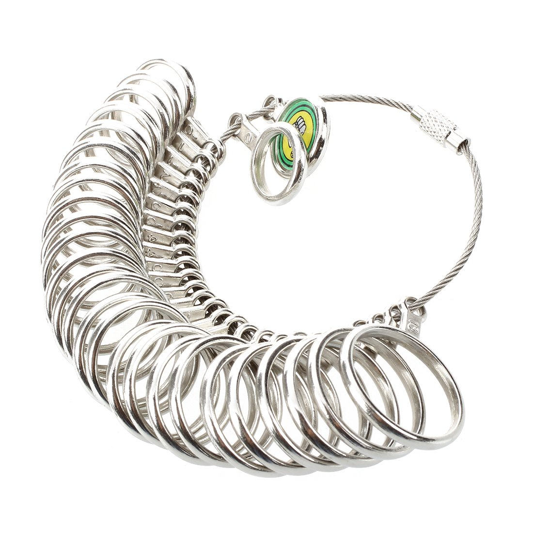 TOOGOO(R) Anello dimensioni strumenti a scartamento metrico metallo misura per gioielli 020516