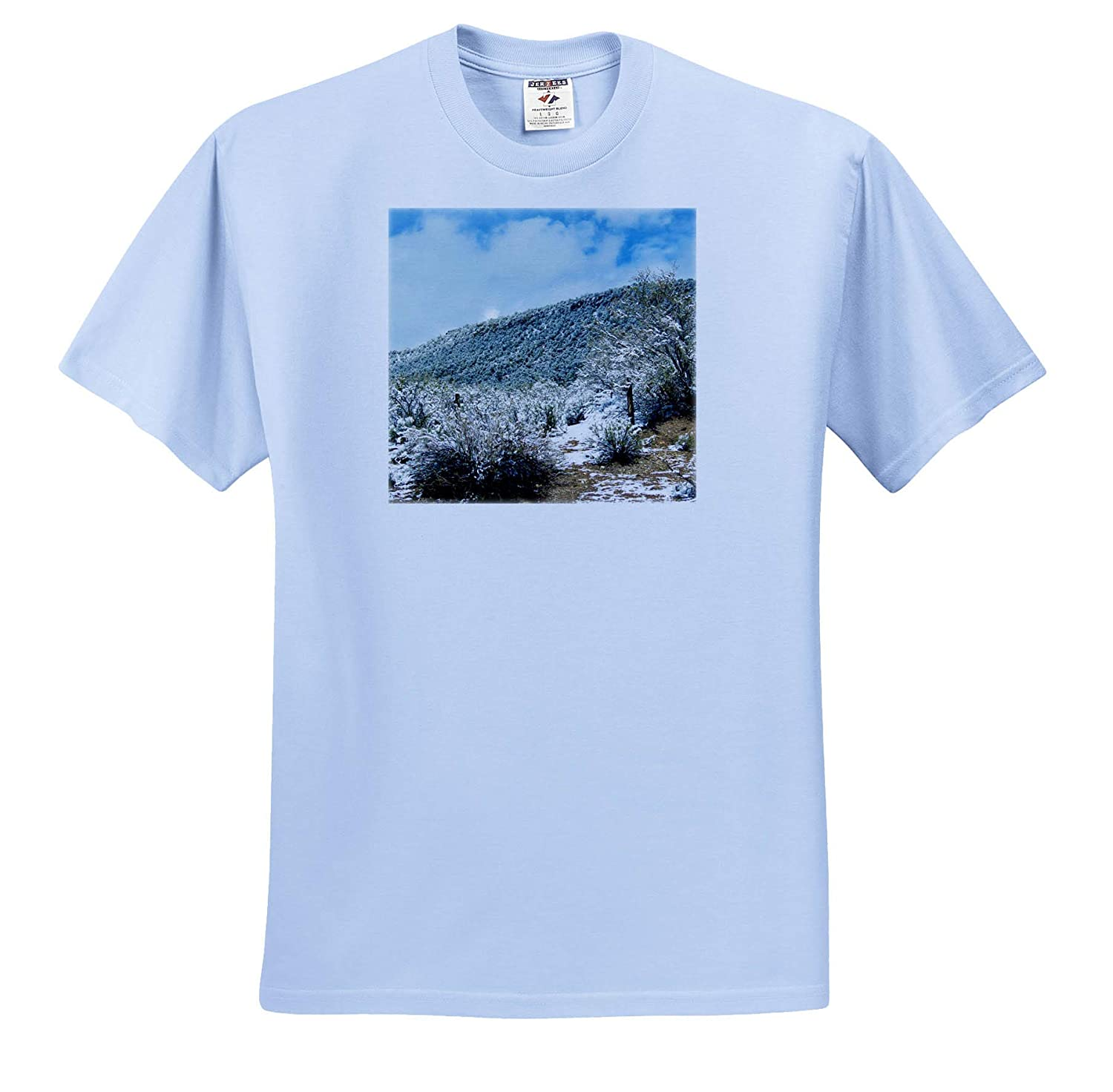 Adult T-Shirt XL 3dRose Jos Fauxtographee- Mountain Snow on a Mountain just Dusted Slightly ts/_317881