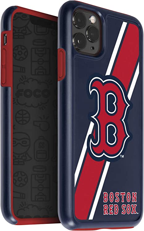 One Size FOCO MLB Boston Red Sox Unisex iPhone 11 6.1 Inch/ Screen Only /Dual Layered Impact Licensed Case Team Color