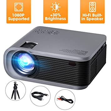 VicTsing Mini proyector con trípode, +30% de Brillo Nativo 720P ...