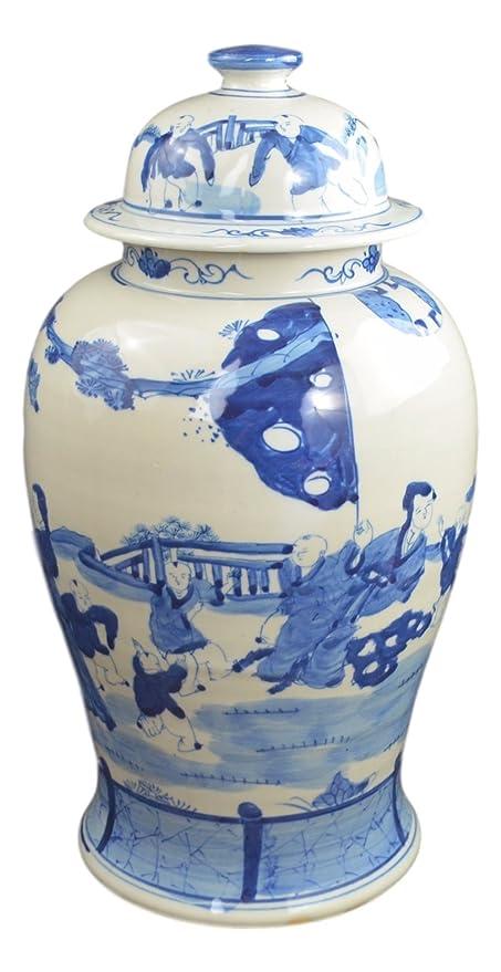 Amazon Festcool 19 Antique Finish Blue And White Porcelain