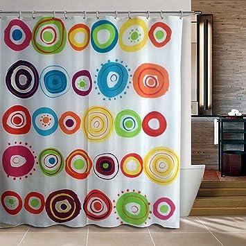 Amazon Com Riverbyland Shower Curtain Doodle Circles 72 X 80