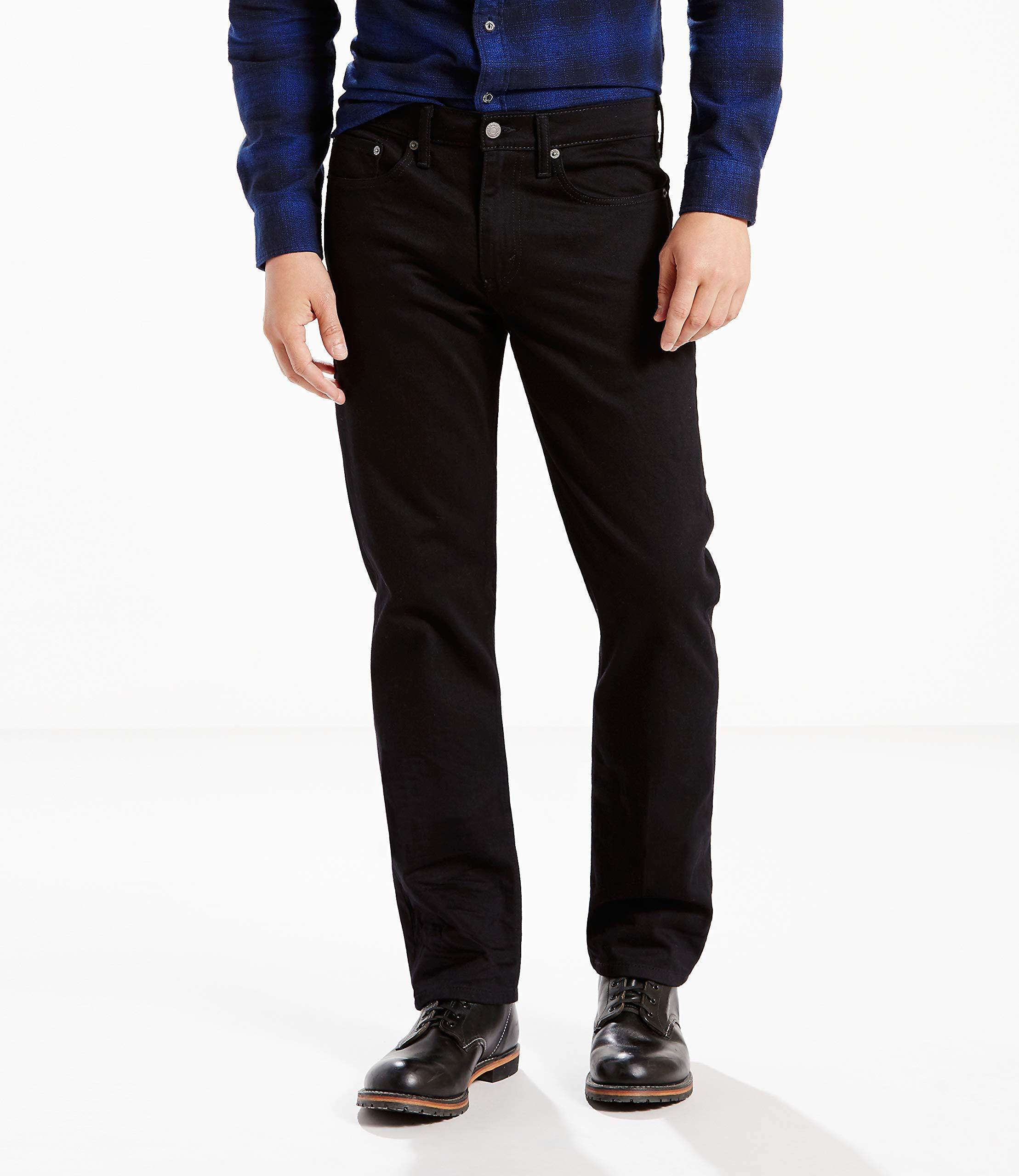 Levi's Men's 514 Straight fit Stretch Jean,  Black, 32x32