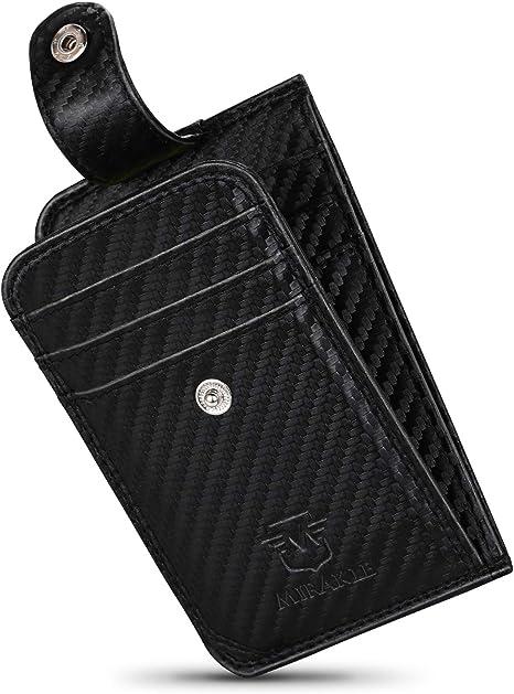 Porta Carte di Credito RFID Carbonio Portafoglio Ultra Slim Uomo Patente Carbon