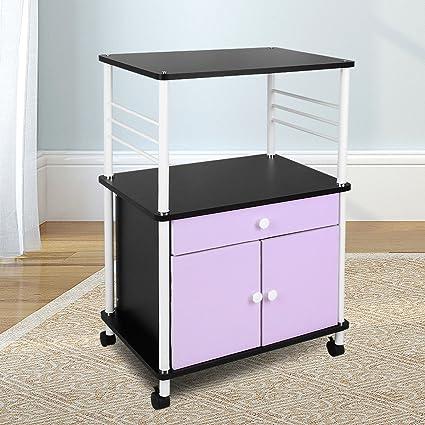 kitchen island with locking wheels drawer cabinet shelf kitchen cart storage black - Kitchen Cart On Wheels