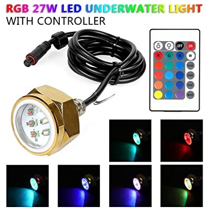 Pleasing Amazon Com Leaningtech 27W Rgb Led Drain Plug Light Boat Wiring 101 Breceaxxcnl