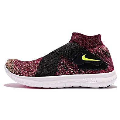 0a99bfe56696 Nike Womens Free RN Motion FK 2017 Black Volt Racer Pink White Running  Trainers 880846
