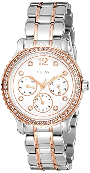 Guess Analog Silver Dial Women's Watch-W0305L3 Women at amazon