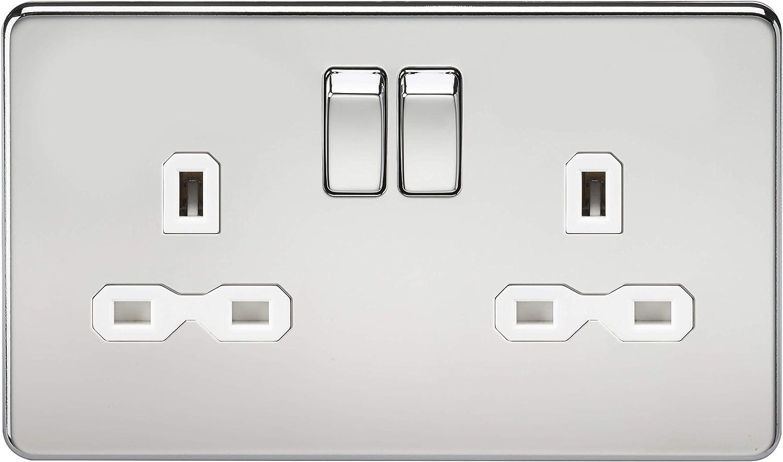 Polished Chrome Knightsbridge SF1200PC Screwless 10 A 1-Gang Intermediate Switch