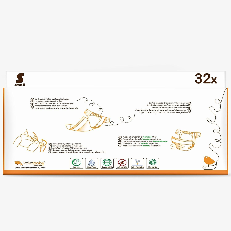 KokoBaby- Pañal desechable biodegradable para bebé (Talla S ...