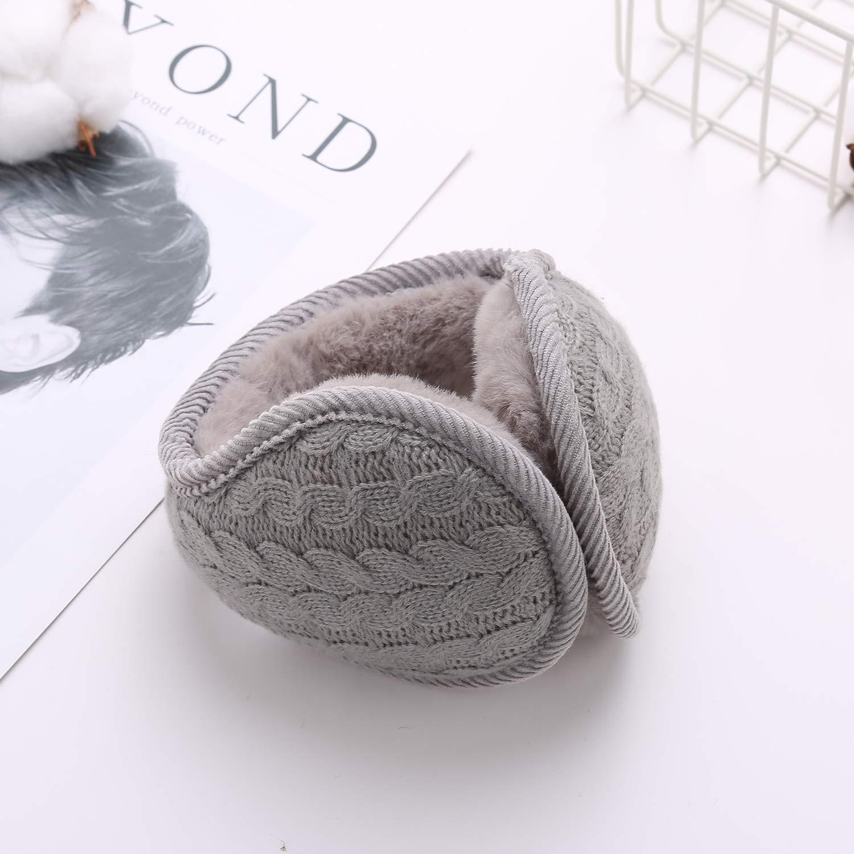 Zando Unisex Foldable Ear Warmers Polar Fleece Winter EarMuffs