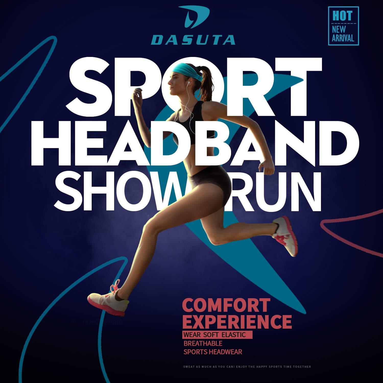 DASUTA Set of 10 Womens Yoga Sport Athletic Headband for Running Sports Travel Fitness Elastic Wicking Workout Non Slip Lightweight Multi Headbands Headscarf fits All Men /& Women Style 3-10 Color