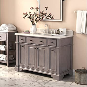 Lanza Casanova WF6956 48 48 In. Single Bathroom Vanity Set