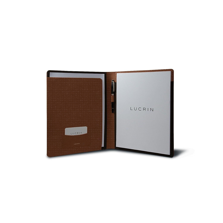 Lucrin/ /Dokumententasche A4/Tasche gerundet Leder bordeaux